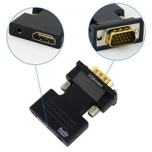HDMI Женский VGA Мужской конвертер с 3,5 мм AUX аудио кабель адаптер 1080P FHD видео выход для ПК ноутбука ТВ монитор проектор