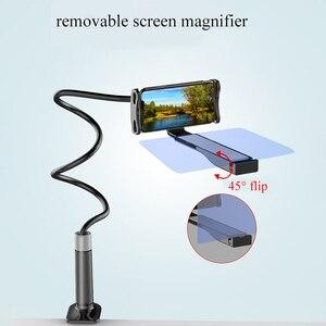 Image 4 - Soporte de proyección de alta definición para teléfono móvil, Flexible, ajustable, todos los ángulos, soporte para tableta o teléfono DOM668