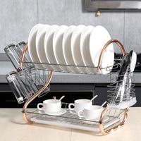 Escurridor de vajilla de cocina, cesta galvanizada para el hogar, gran escurridor de platos, organizador de tazas