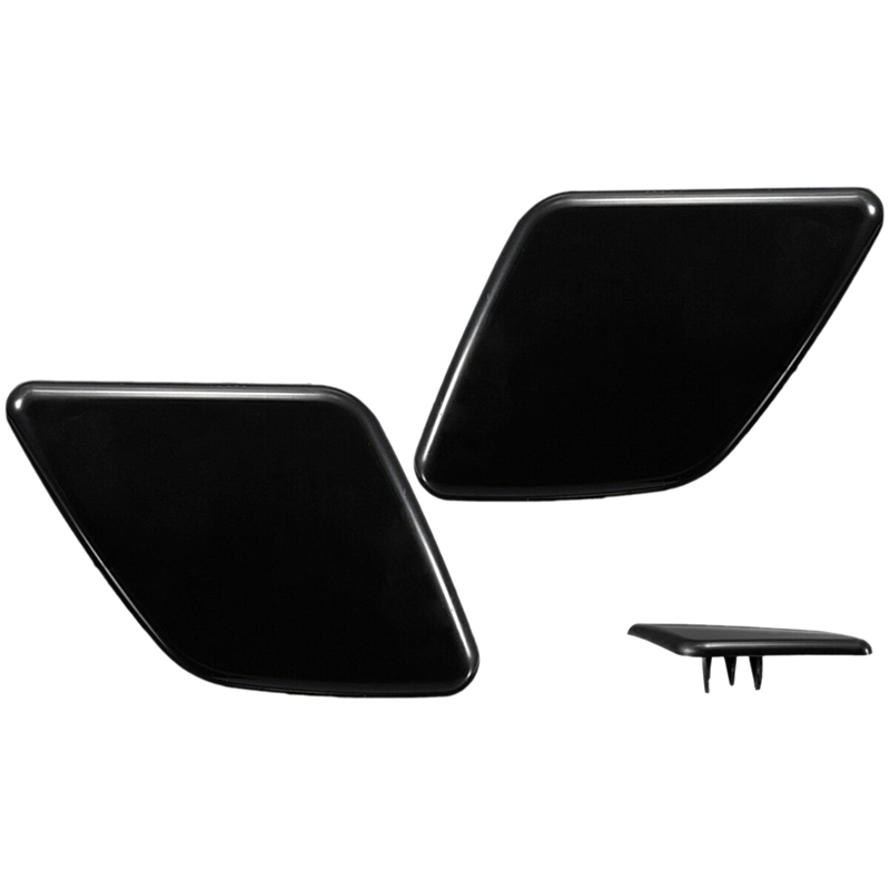 Pair L+R Side Headlight Bumper Washer Cap Jet Cover For Volvo XC90 2007-2014