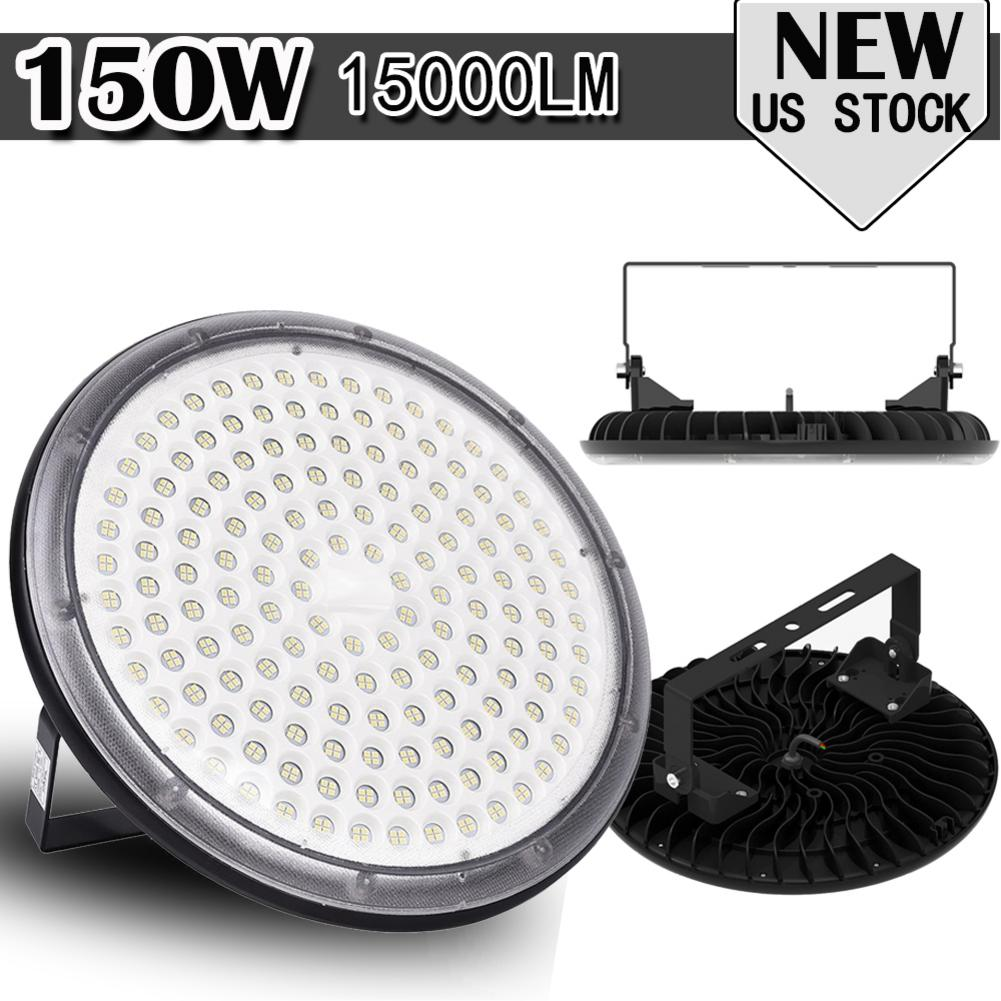 1//10Pack 150W UFO LED High Bay Light 150W Commercial Warehouse Shop Lighting