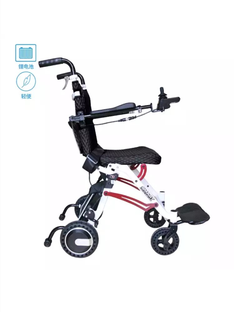 Best-selling Net Weight 18KG Lithium Battery Folding  Smart Control Electric Wheelchair Can Be Carried On The Plane