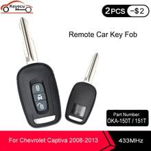 Keyecuリモート車のキー 3 ボタン 433mhz ID46 用シボレーキャプティバ 2008-2013 オペルアンタラ 2006-2009 p/n: OKA-150T OKA-151T