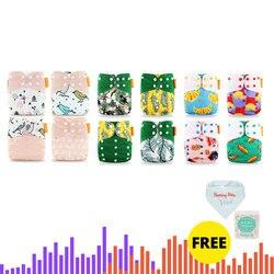 HappyFlute 12 windeln + 12 Einsätze Baby Tuch Windeln One Size Einstellbare Waschbar Reusable Tuch Windel Für Baby Mädchen und jungen