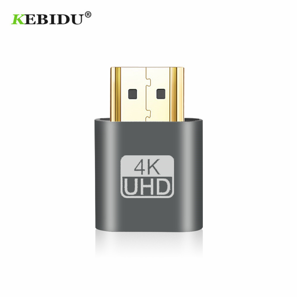 Image 2 - Kebidu 2018 HOT SALE VGA Virtual Plug HDMI Dummy Adapter Virtual Display Emulator Adapter DDC Edid Support 1920x1080P For Video-in Computer Cables & Connectors from Computer & Office