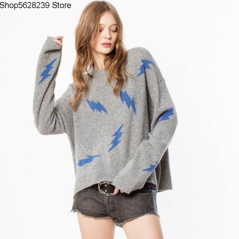 Zv Cashmere Sweater Female 2020 Pack Round Neck Long Sleeve Pullover Loose Lazy Backing Shirt Sweater