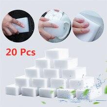 20 pçs esponja de melamina esponja mágica limpeza doméstica almofada para cozinha escritório banheiro limpeza nano esponjas 10x6x2cm