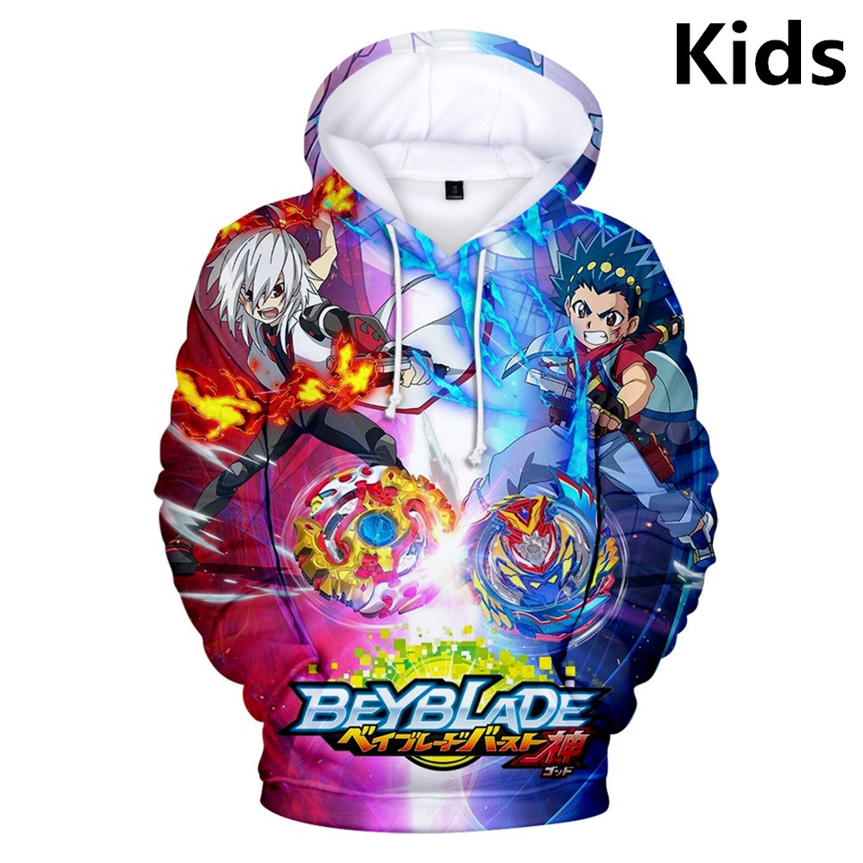 New 3D 2 To 13 Years Kids Hoodies Beyblade Burst Evolution Print Hoodie Sweatshirt Boys Girls Streetwear Jacket Children Clothes