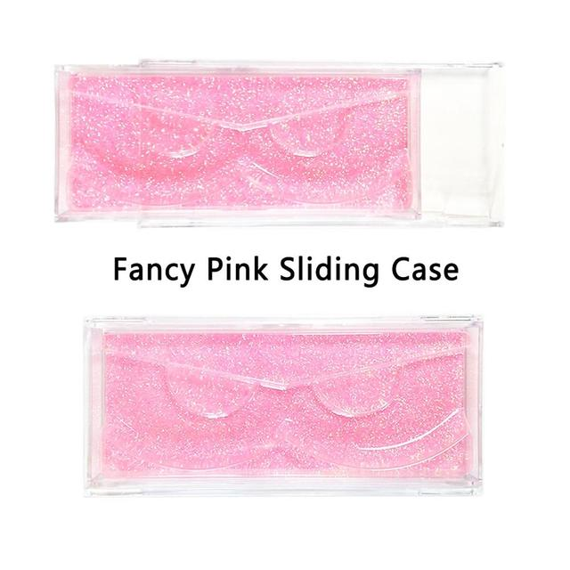 40 pieces/lot Professional Sliding cover Cases with Holders for Full Strip Eyelashes Transparent Case for 3D Mink Hair Lashes