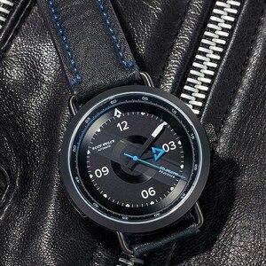 Image 3 - Reef Tiger reloj Blac Simple para hombre, pulsera de cuero, resistente al agua, militar, automático, RGA9055, 2020