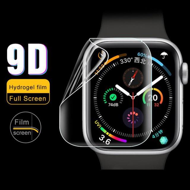 9D hidrojel Film tam kenar koruyucu kapak iwatch için 4/5/6/SE 40mm 44mm ekran koruyucu Apple için İzle serisi 2/3 38mm 42mm