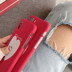 Image 4 - Phone Bag Case Accessories For iPhone X XR XS MAX 6 6s 7 8Plus Luxury Couple Love Heart Eyes Print Fashion Back Cover Capa Coque