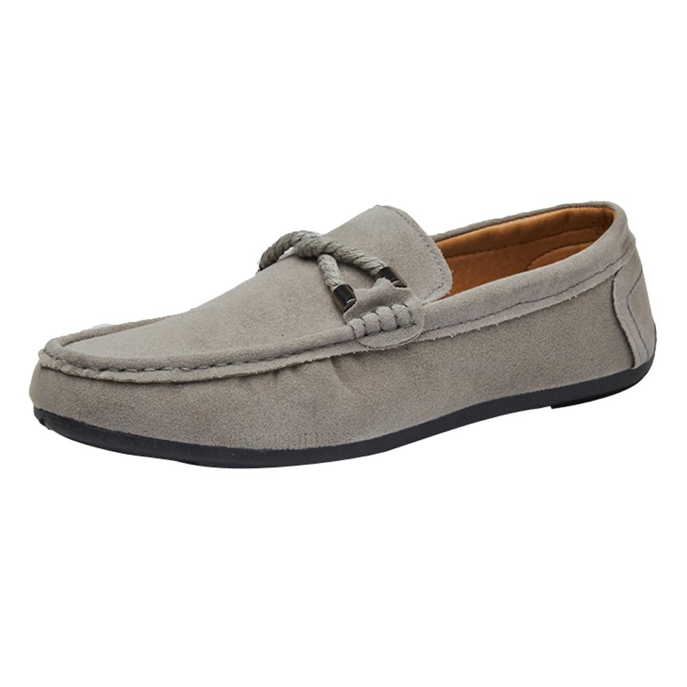 M/&V Driving Shoes Mens Suede Casual Penny Loafers British Style Handmade Oxford Shoes Flats Slip-on Sneaker