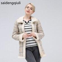 2019 prawdziwe strzyżenie owiec jesienno zimowa damska topy ciepła skórzana kurtka damska kamizelka New Fashion kożuch sweter kamizelka