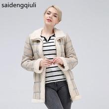 2019リアル羊せん断秋冬女性の暖かい革のコートの女性ベスト新ファッションシープスキンセーターのベストのコート