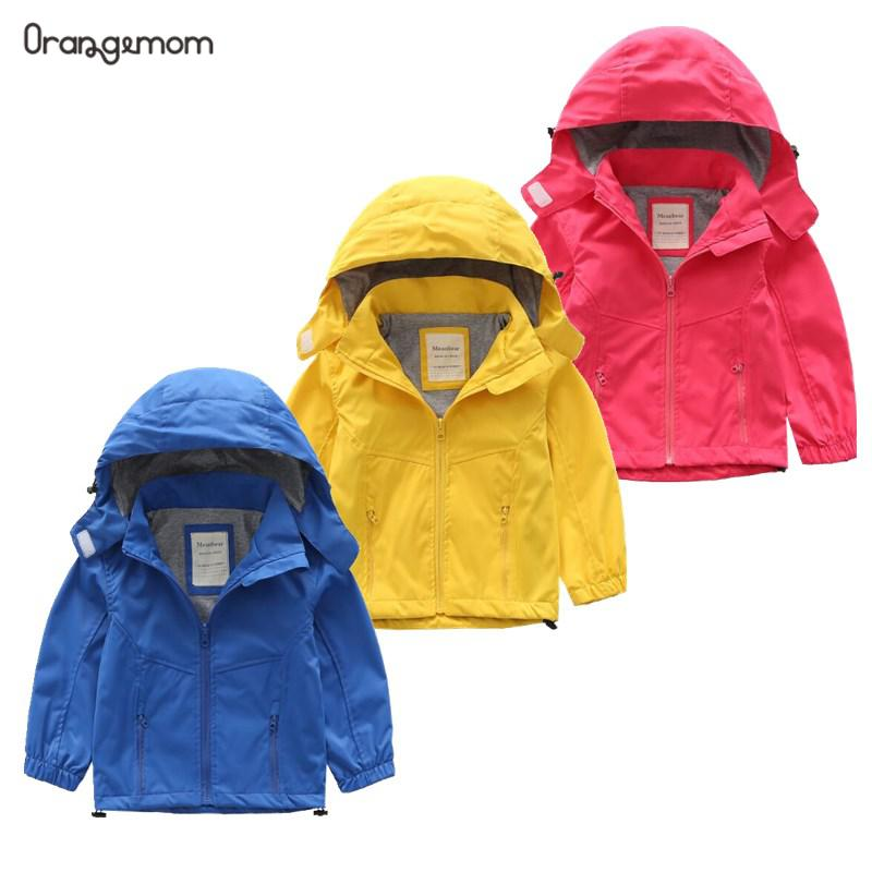 2-8Y Kids Boys Girls Lovely Windproof Hooded Hoodies Rain Coat Jacket Outerwear
