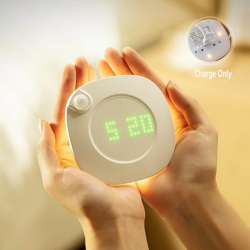 Движения PIR Сенсор Ночная аварийная лампа Перезаряжаемые затемнения учета рабочего времени лампа USB/Батарея Ванная комната проход потолочн...