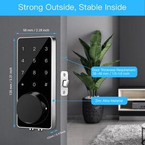 Image 5 - חכם מנעול Keyless כניסת דלת בריח דיגיטלי אלקטרוני Bluetooth מנעול דלת עם לוח מקשים נעילה אוטומטית בית מגע מסך נעילה