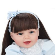 Adorable Reborn Baby Doll Lifelike soft Silicone 55CM Babies Reborn Dolls Handmade Toddler Dolls With Hands Open Toys for kids novelty native american indian reborn baby doll with clothes 20 lifelike baby silicone reborn dolls toys for children
