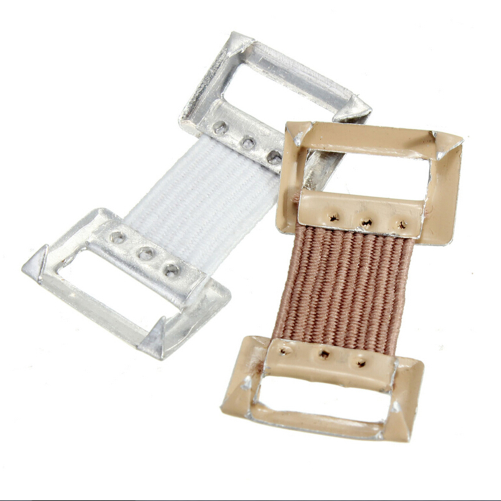 10PCS Elastic Bandage Wrap Stretch Metal Clips Bandage Clips Replacement Fixation Clamps Hooks White Coffee Colors