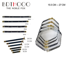 Wholesale 15.5cm 20cm 25cm 28cm 30cm Metal Internal Flex Frame Purse Frame Accessories Bag Flex Spring Clasp