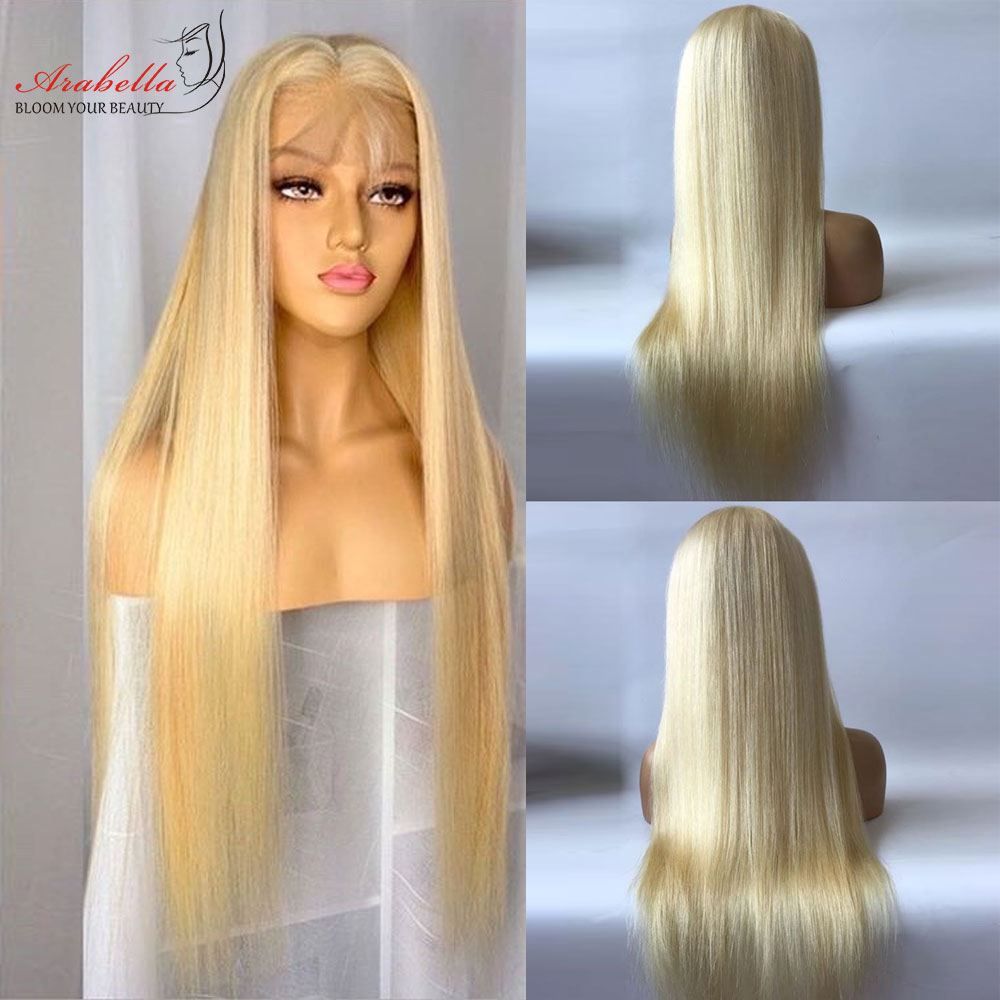 613 T Part Lace Wig 100%  Wigs Pre Plucked Bleached Knots With Baby Hair Arabella  Hair Wig Blonde Lace Wigs 4