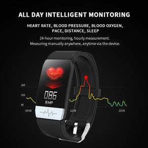 Image 5 - Lerbyee T1 جهاز تعقب للياقة البدنية الجسم درجة الحرارة ECG سوار ذكي مراقب معدل ضربات القلب ساعة ذكية تحكم بالموسيقى الرياضة 2020 الرجال النساء
