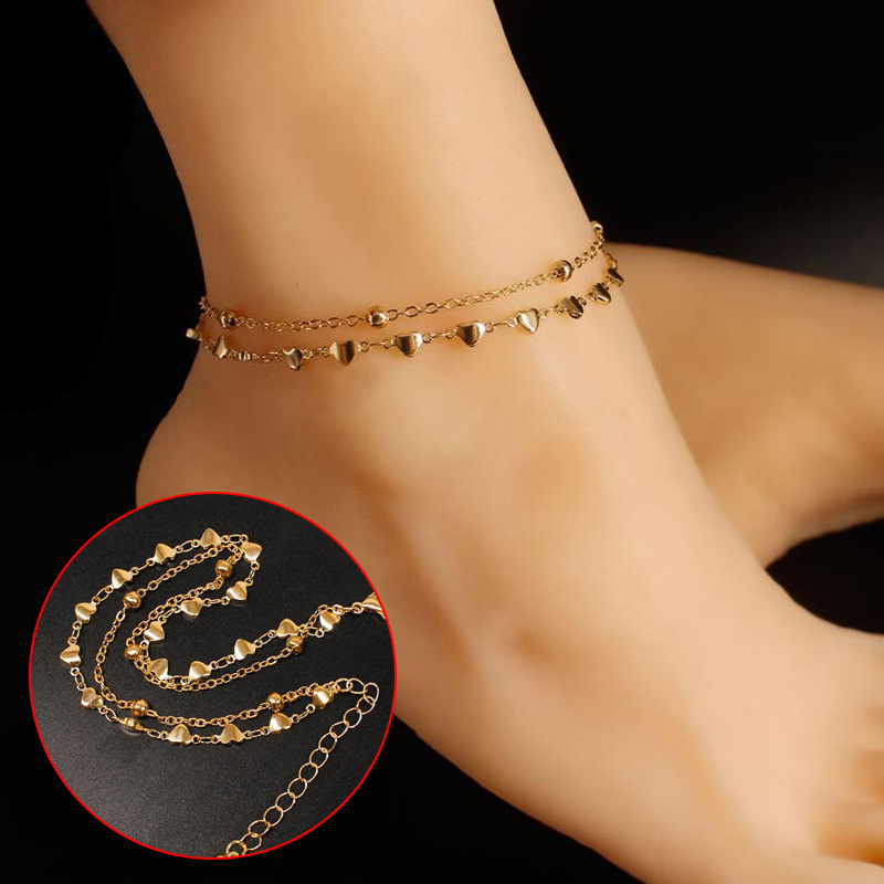 18styles Initial Vintage Summer Beach Foot Anklet For Women Bohemian Female Anklets Bracelet On the leg Jewelry Christmas Gifts