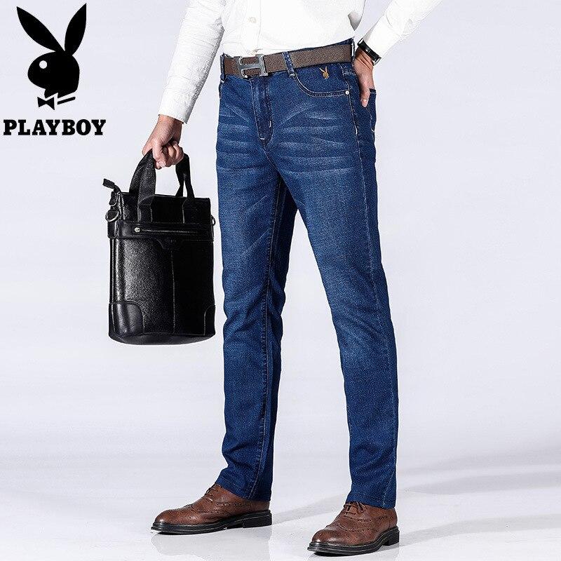 -P58 PLAYBOY 1953 Jeans Men's Business Slim Fit Elasticity Plus-sized Menswear Casual Pants
