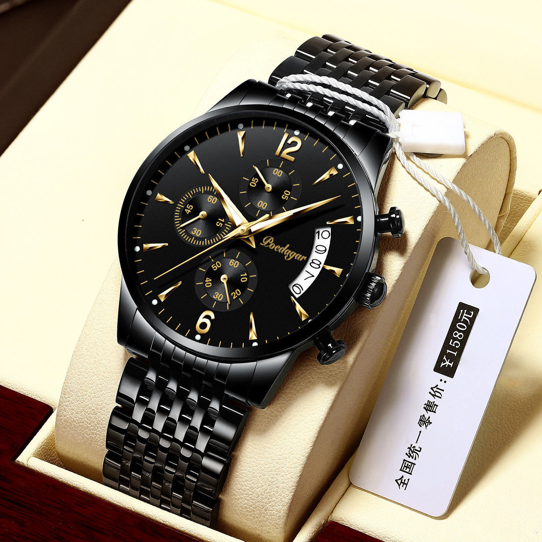 POEDAGAR 2021 New Fashion Men's Watches Waterproof Luminous Quartz Wristwatch Top Brand Luxury Clock Casual Relogio Masculino 3