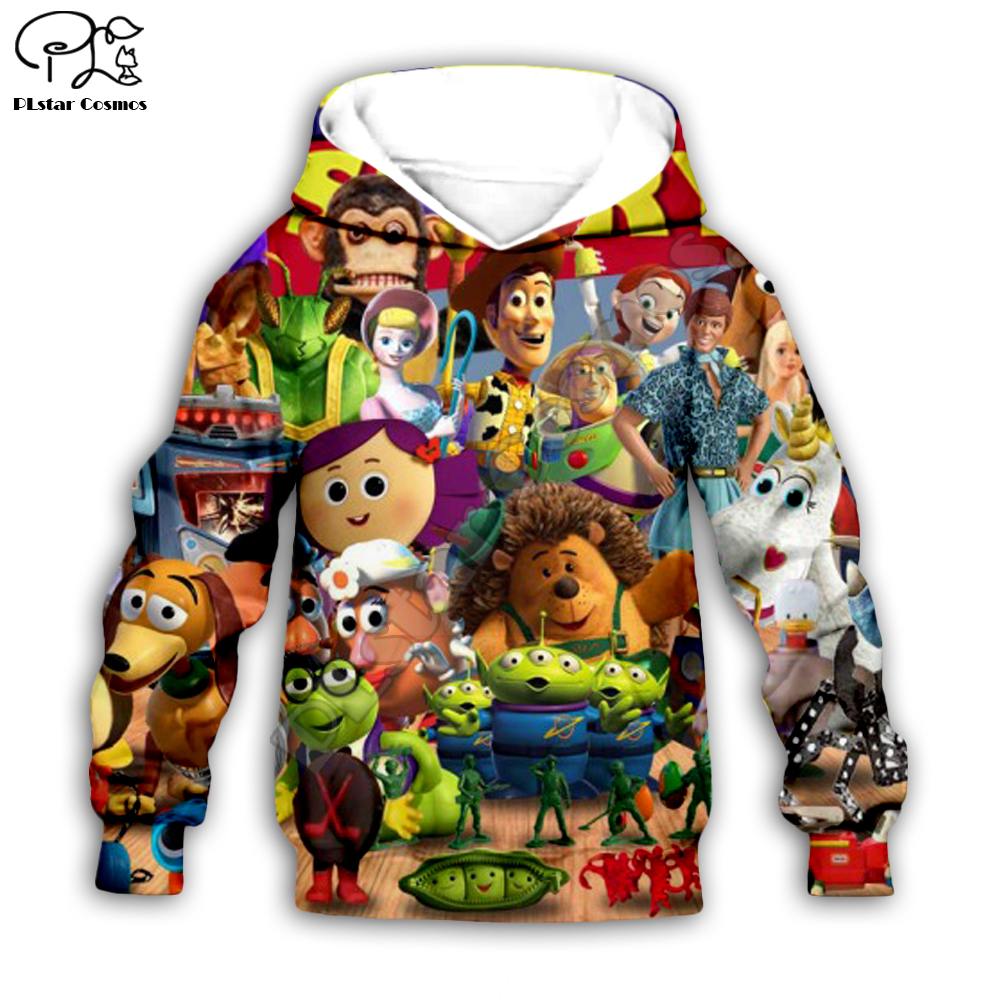 Kids Cloth Forky Toy Story 4 The Walking Toys 3d Hoodies/boy Sweatshirt Sherif Woody Cartoon Buzz Lightyear Style-18