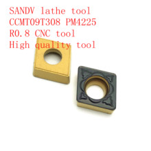 SANDV high quality lathe tool CCMT09T308 PM4225 carbide internal turning tool, R0.8 CNC semi-finishing