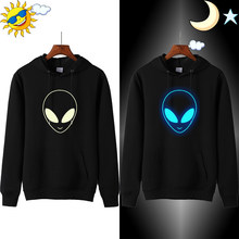 ET Aliens Printing Women Hoodies Sweatshirts Long Sleeve Harajuku Hooded Sweater Women Clothing Feminina Loose Jumper Sweat Warm(China)