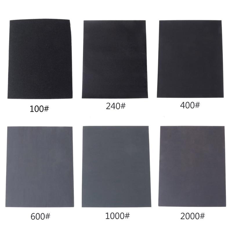 100#/240#/400#/600#/1000#/2000# Waterproof Sanding Paper Wet Dry Polishing Sandpaper Grit Granularity Metal Wood Abrasive Tools