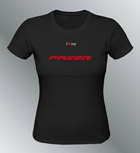 T-shirt individualisé fazer 2010 s m l xl noir femme col rond moto fz6 fz1 f(1)