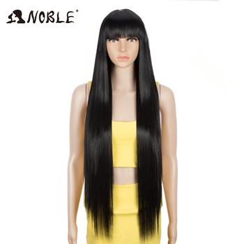 Noble Cosplay syntetyczna peruka z grzywką peruka z długich prostych włosów Ombre Blond kolorowa peruka peruka dla peruka damska dla czarnych kobiet syntetyczna peruka tanie i dobre opinie Włókno odporne na wysoką temperaturę Średni CN (pochodzenie) Proste Tylko 1 sztuka 130 HALLOWEEN COSTUME peruki średni rozmiar