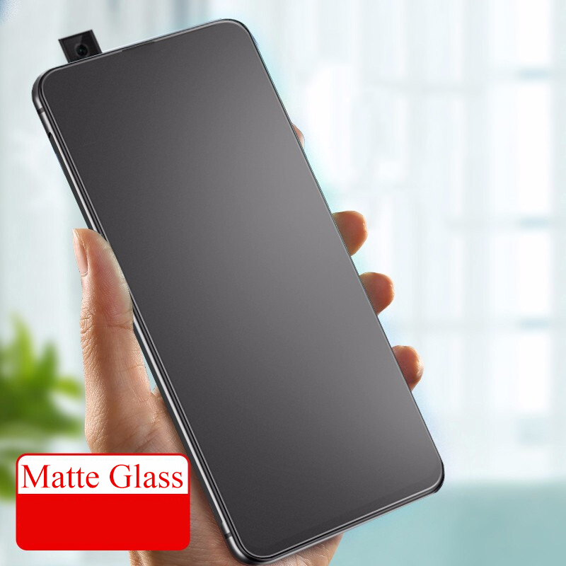 For Huawei P Smart Z Matte Frosted Tempered Glass For Huawei Y9 Prime 2019 Anti No Fingerprints Full Cover Edge Screen Protector