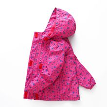 Fashion Hooded Waterproof Child Coat Kids Outfits Baby Girls Jackets Printed Polar Fleece Children Outerwear For 110-150cm цены