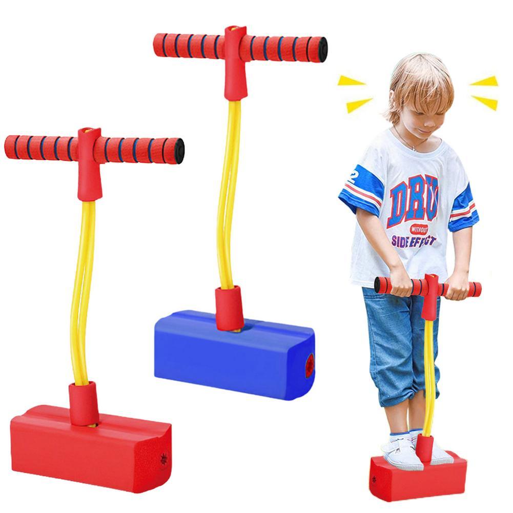 Pogo de espuma vara bungee jumper para crianças brinquedos ao ar livre espuma saltando brinquedo para crianças idade 3 e até sons guinchados pogo varas
