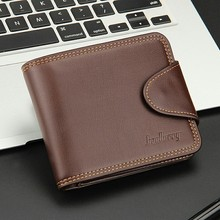 Hot Sale Men's Leather Short Wallet European and American Fashion Business Casual Men's Card Case Horizontal Buckle Coin Purse european and american simple styleluxurious genuine leather coin purse for women 4 color on sale