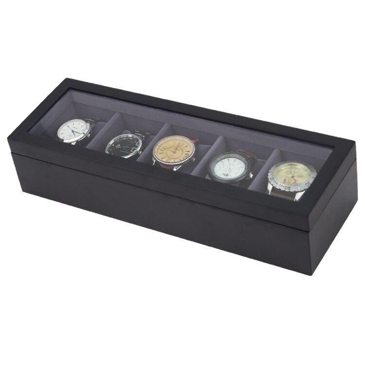 de madeira 5 slots relógio caixas de