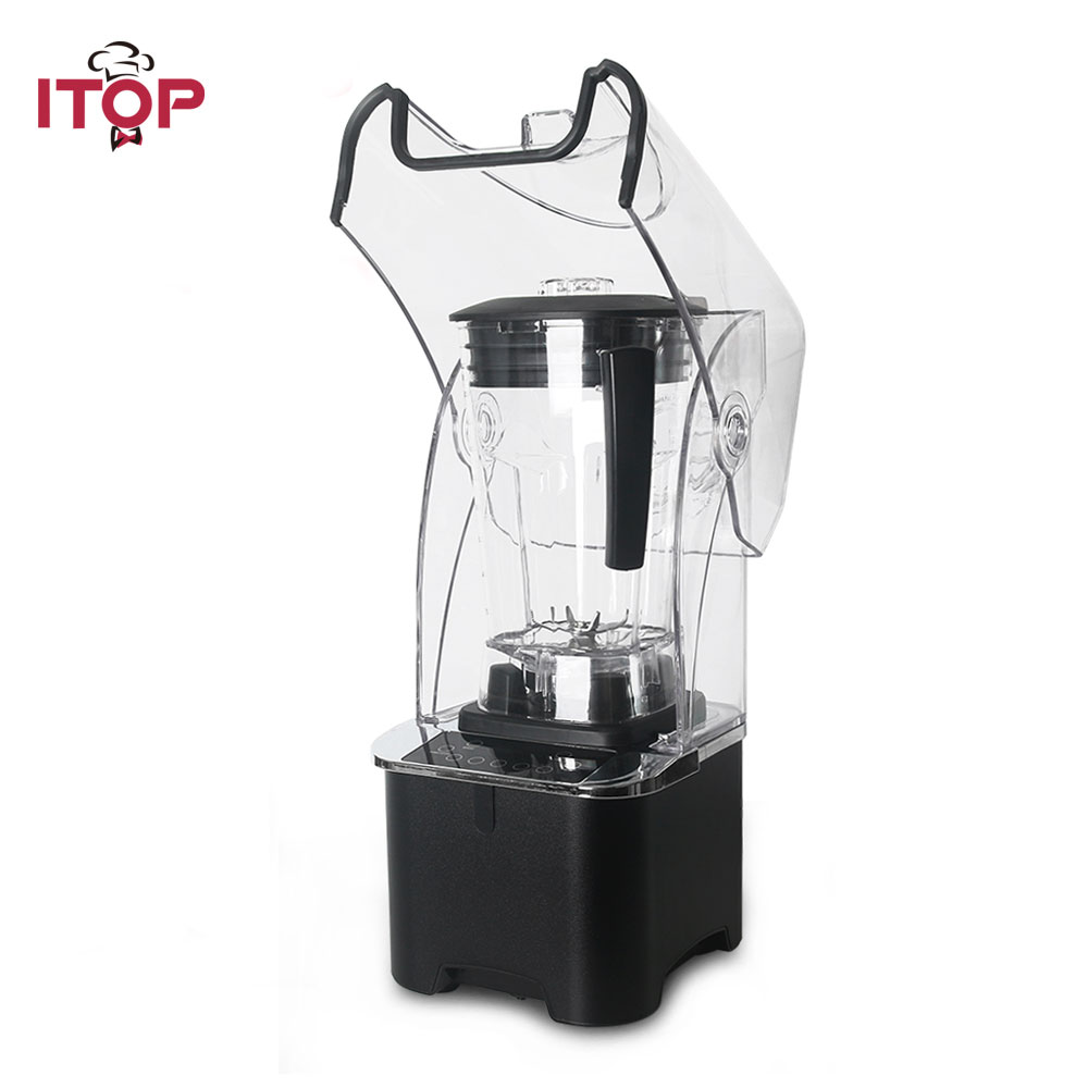 2200W Electric Commercial Smoothie Blender 2L Cup With Cover Reduces Noise 220V