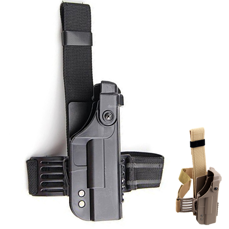 Tactical Hunting Gun Holster Military Right Drop Leg Glock Gun Case Thigh Pistol Holster for Glock 17 18 19 22 23
