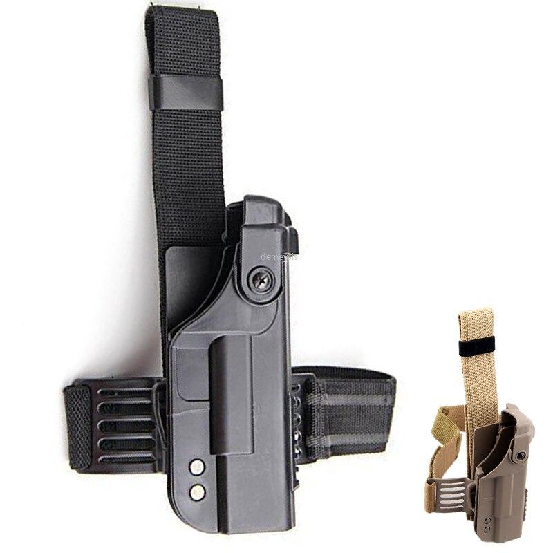 Funda táctica para pistola de caza, funda de pistola en el muslo para pierna, pierna, gota, militar, 17 18 19 22 23