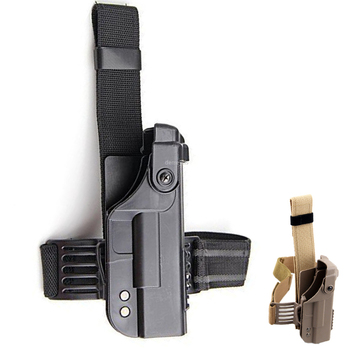 Tactical Hunting Gun Holster Military Right Drop Leg Glock Gun Case Thigh Pistol Holster for Glock 17 18 19 22 23 tactical lv3 glock leg holster with flashlight fit for glock 17 19 22 23 31 32 glock gun military hungting holster