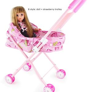 Кукла детская складная железная тележка маленькие детские развивающие игрушки ролевые игры тележка для детей