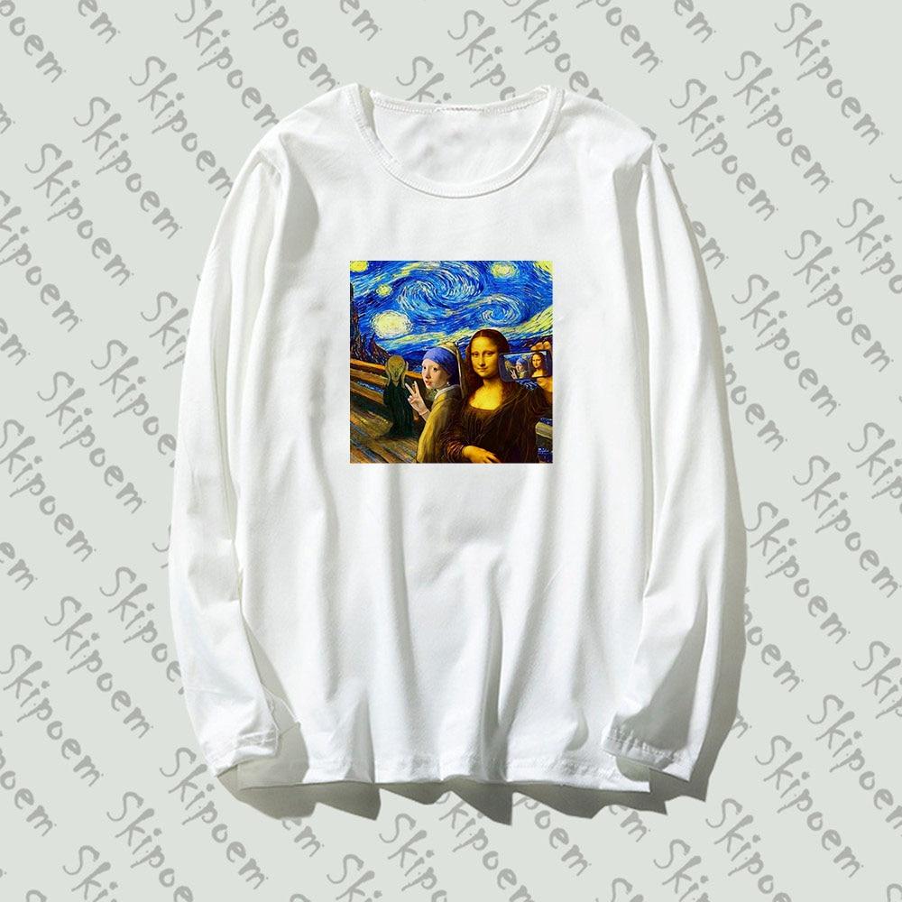 Womens Tops VAN GOGH Arts Funny Short Sleeve T Shirt Da Vinci Funny Mona Lisa