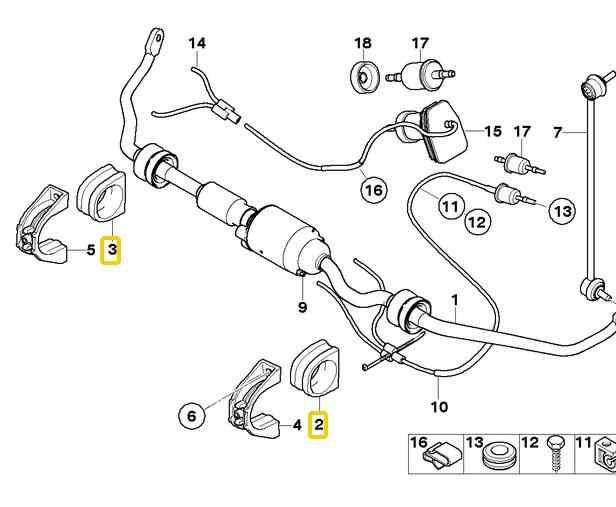 Передняя подвеска стабилизатор Анти раскачивание бар втулка для BMW E65 E60 525i 530i 730i 740i 750i 31356753913 один комплект