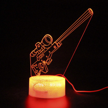 Battle Royale Bolt 3D Table Lamp Remote Control Touch Switvh Sleep Light Party Decoration Nightlight Illusion