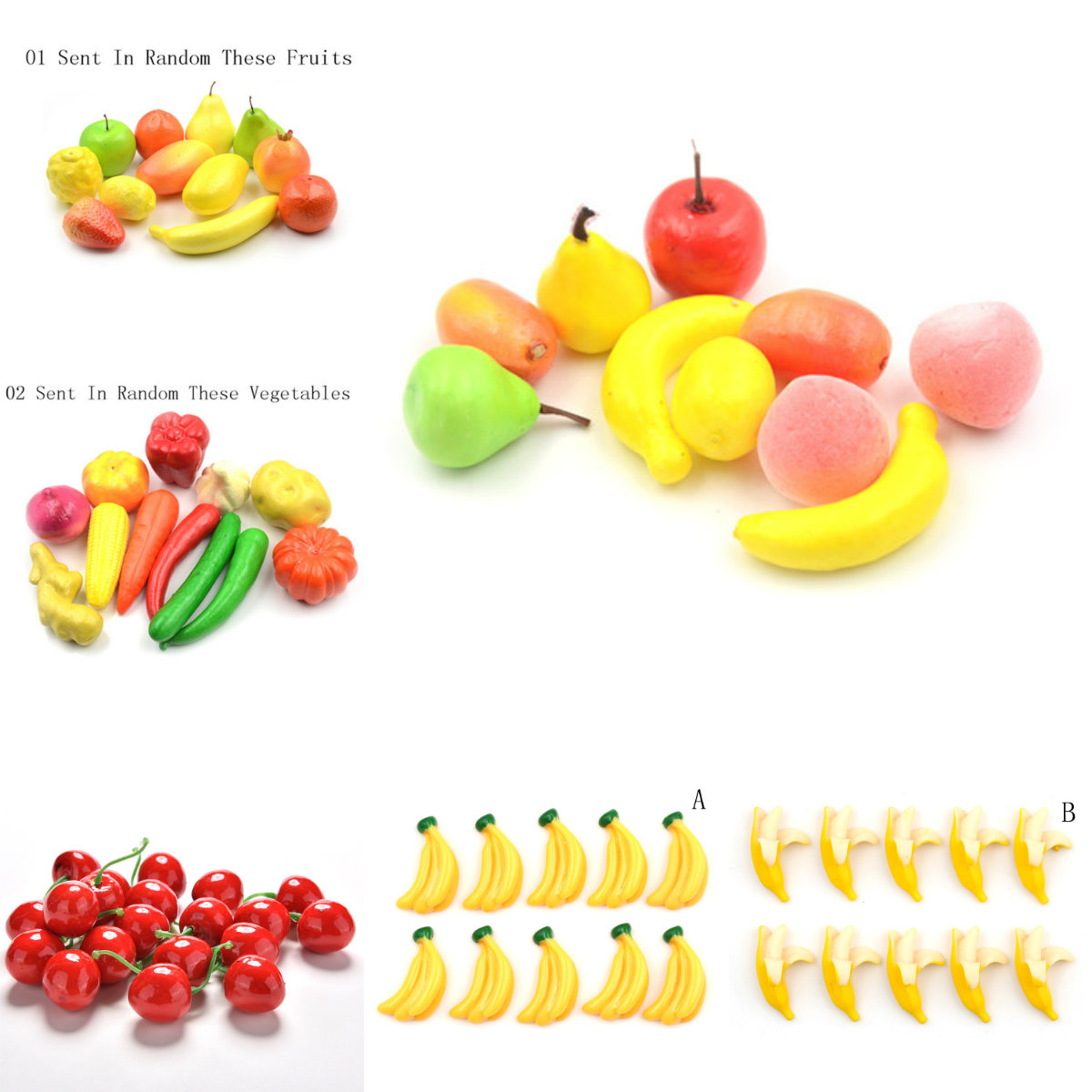 12Pc/set Pretend Play Plastic Food Toy Cutting Fruit Vegetable Food Pretend Play Children For Children